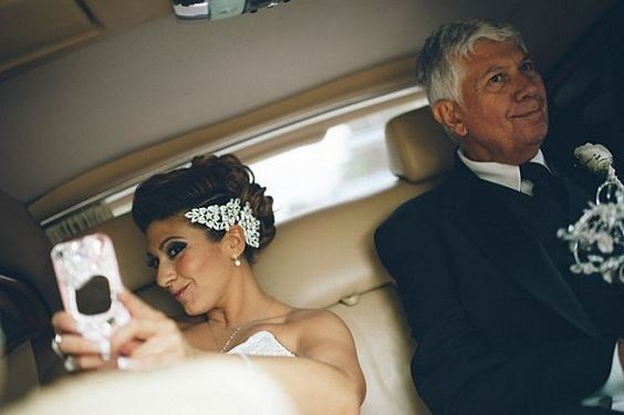 Who is more likely to check their phone during the wedding? You or your fiancé(e)?? 2