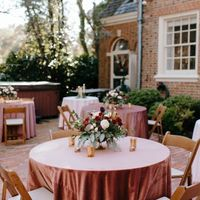 Pink Decor - Brick Courtyard Wedding