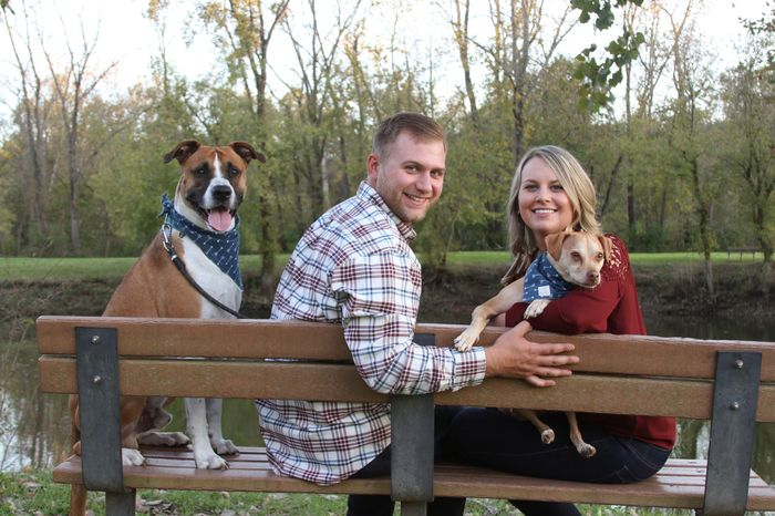 Engagement pics with our pup!!! - 2
