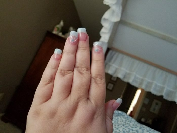 Wedding day nails 16