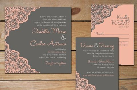 Wedding Invite with Reception Details