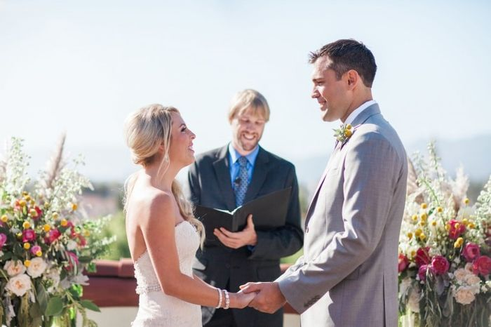 Your vows: are you slipping in a joke or keeping it strictly sentimental? 1