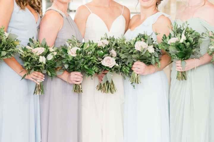 Mismatched Bridesmaid Dresses - Pastel Color Palette