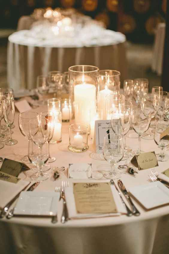 Candle Centerpieces - Various Heights