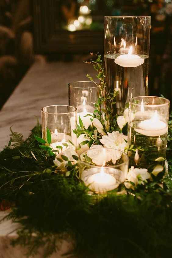 Water Candle Centerpieces - Various Sizes and Flowers