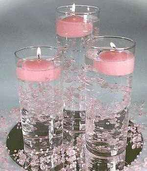 Candle Centerpiece with Water Beads