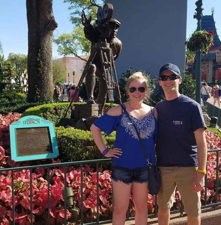 Disney World - right after we first started dating