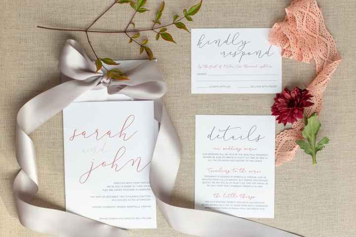 Wedding Invite With Reception Details and RSVP Card