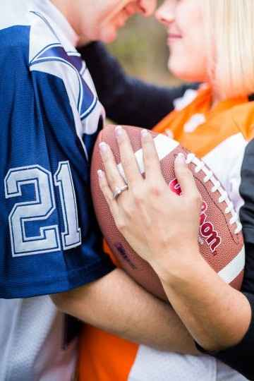 Football Engagement Photos, Opposing Teams