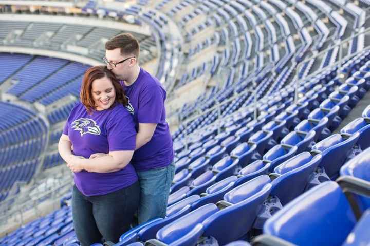 Football Engagement Photos,  Same Team