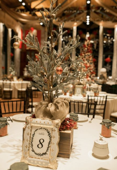 Christmas tree wedding decor? What do you think? 1