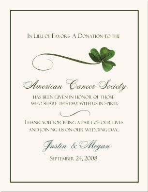 Donation As Favors Weddings Etiquette And Advice Wedding