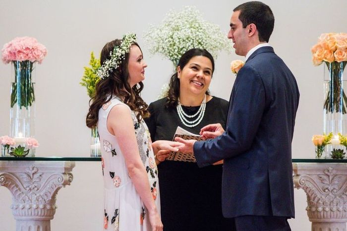 Who is your wedding officiant? Friend, family, or pro? 1