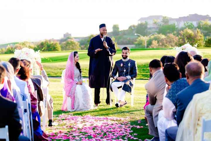 Muslim/Indian ceremony outside on a golf course