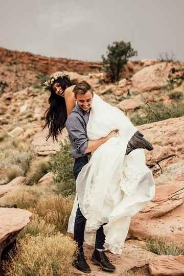 Moab, Utah boho/bohemian elopement