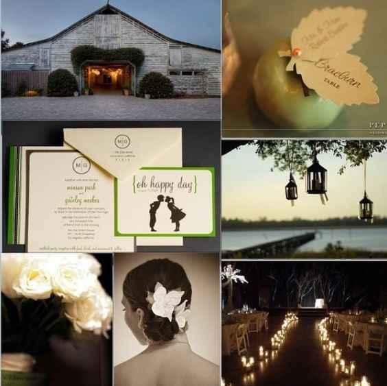 Green wedding inspiration from Pinterest