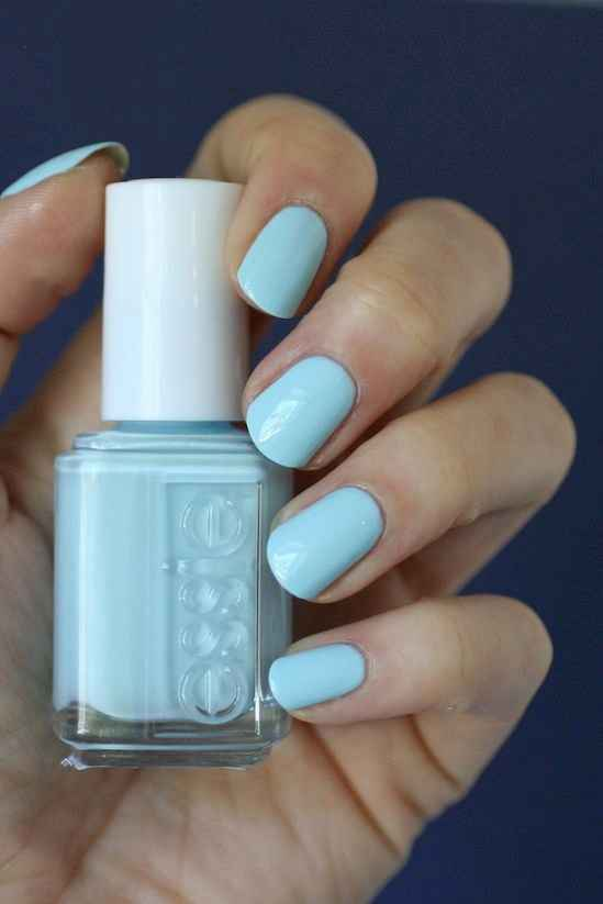 Baby blue nails
