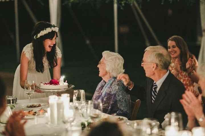 Celebrating a birthday at a wedding