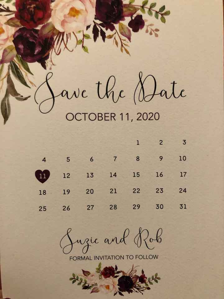 Save the Dates! - 1