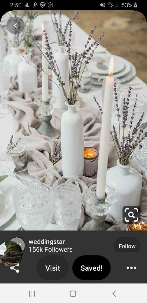 Table size and centerpieces - 3