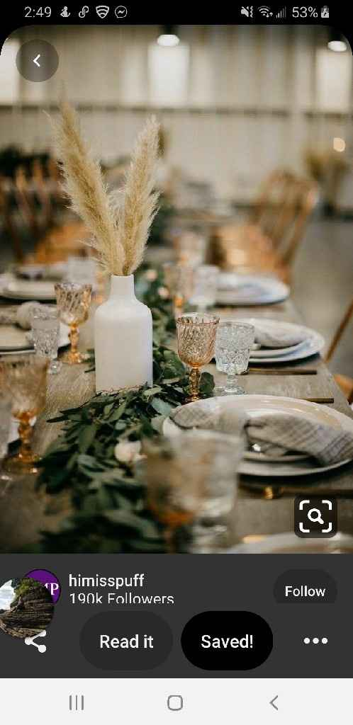 Table size and centerpieces - 4