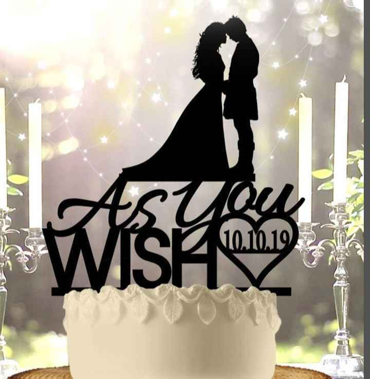 Wedding cake topper! - 1