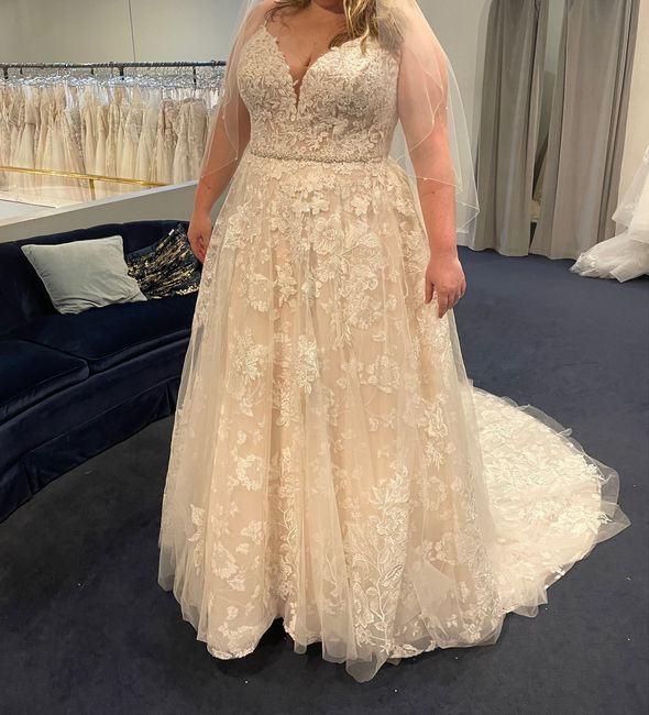 i said yes to the dress! Now to keep it a secret from my fiancé for a year! 1