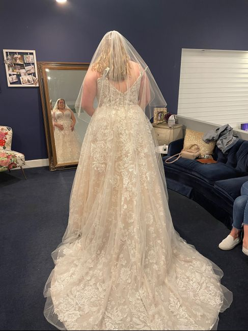 i said yes to the dress! Now to keep it a secret from my fiancé for a year! 2