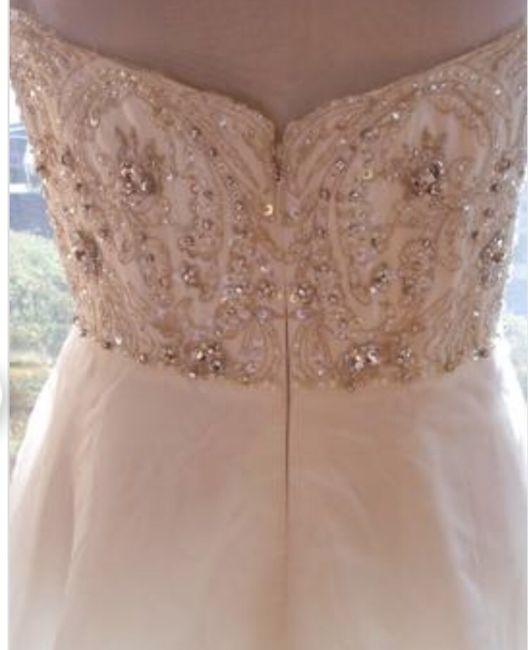 Adding corset back to beaded dress 2