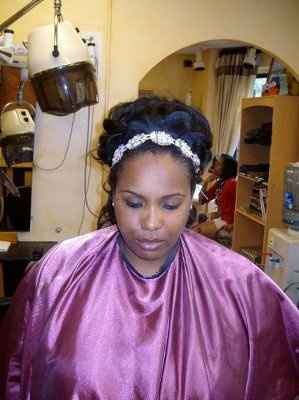 Wedding Dress & Hair