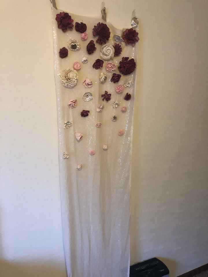 Has anyone made a hanging flower ceremony backdrop? - 1