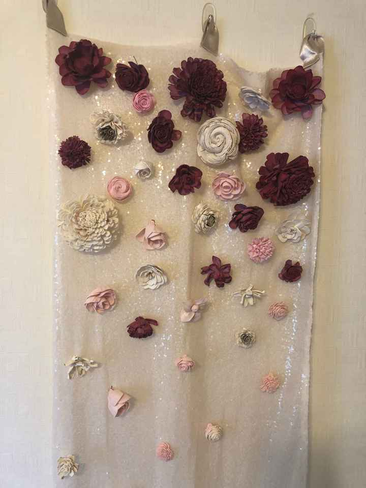 Has anyone made a hanging flower ceremony backdrop? - 2