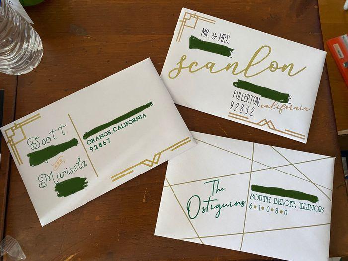Handwritten or Calligraphy - Wedding Invites 1