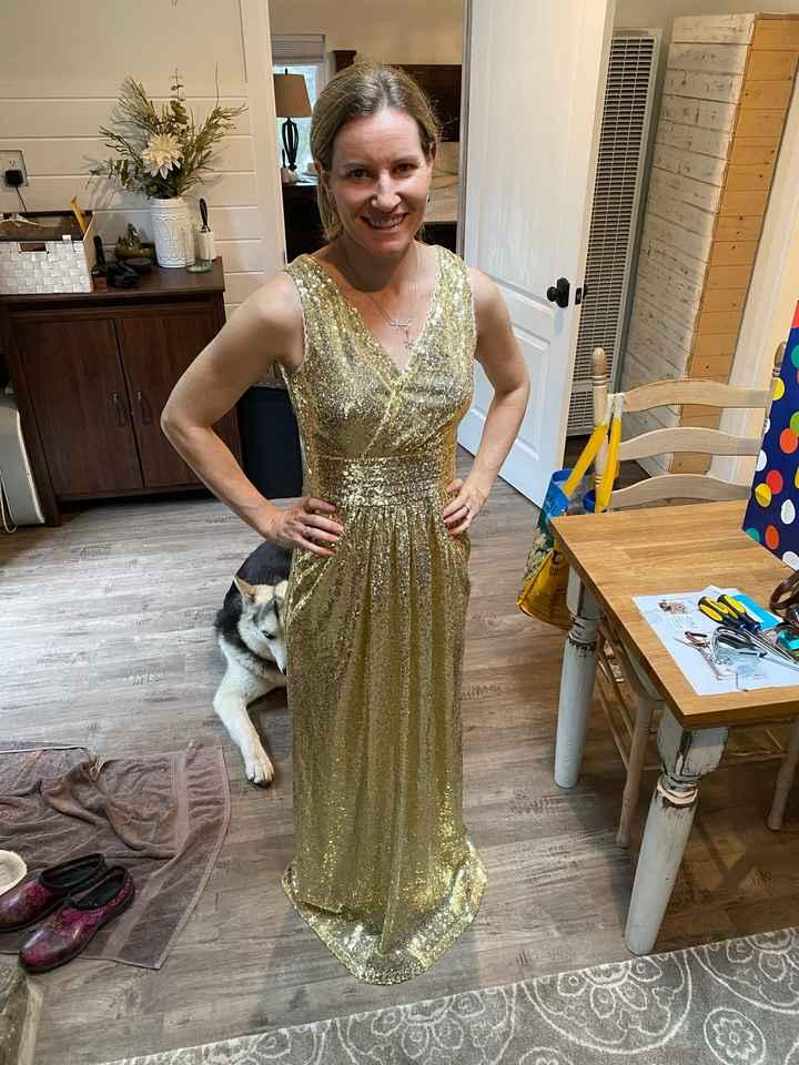 Gold/champaign bridesmaid dress?!? - 2