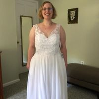 Front of the dress