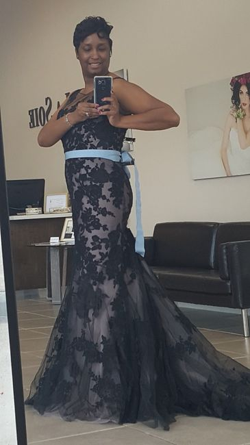 Black wedding dresses. 1