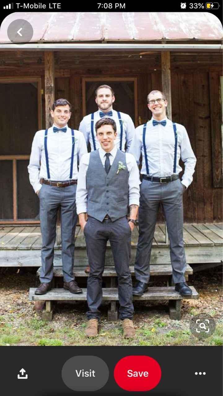 Groomsmen attire for dusty blue colors? - 1