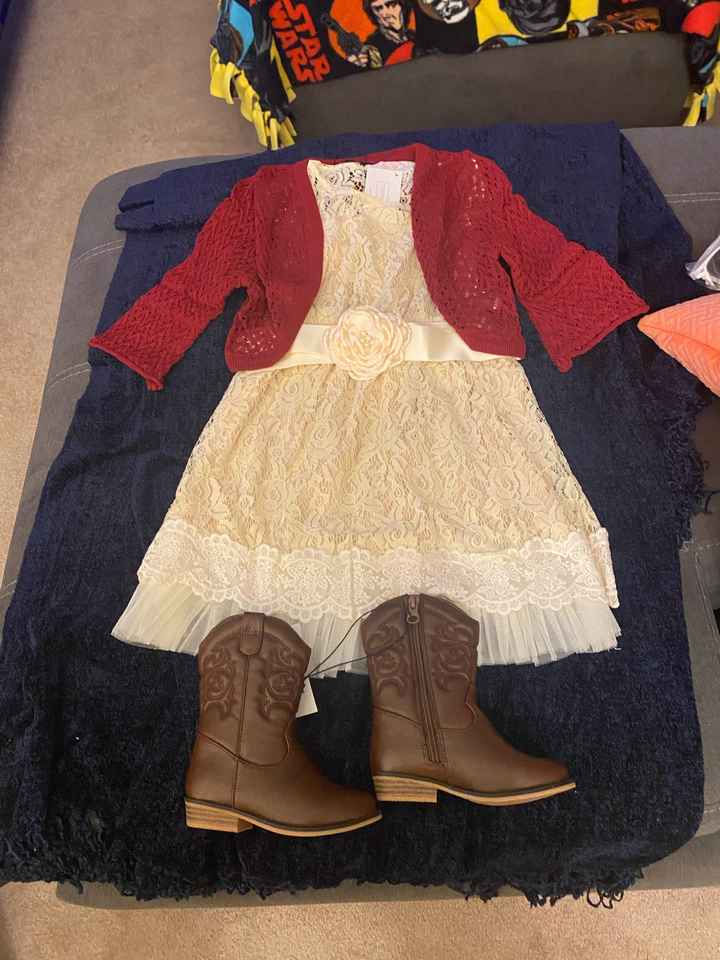 The flower girl outfits! - 1
