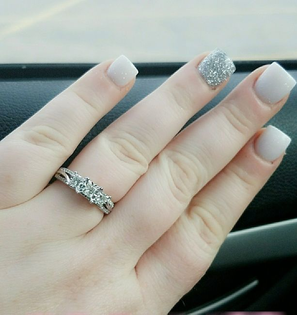 Wedding day nails 3