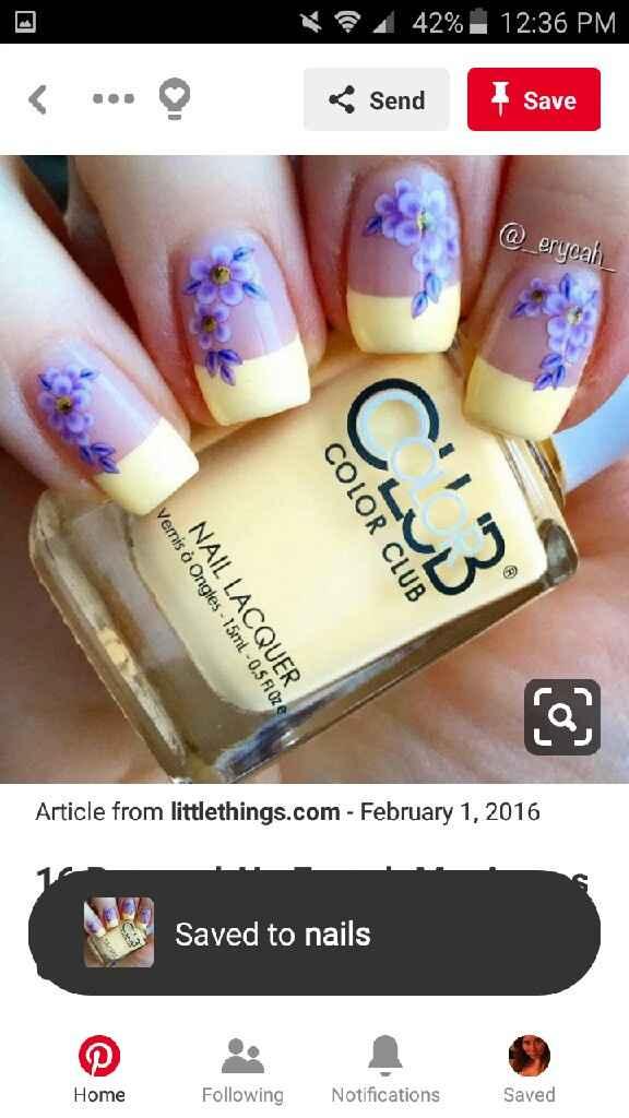 Nail design for wedding - 1