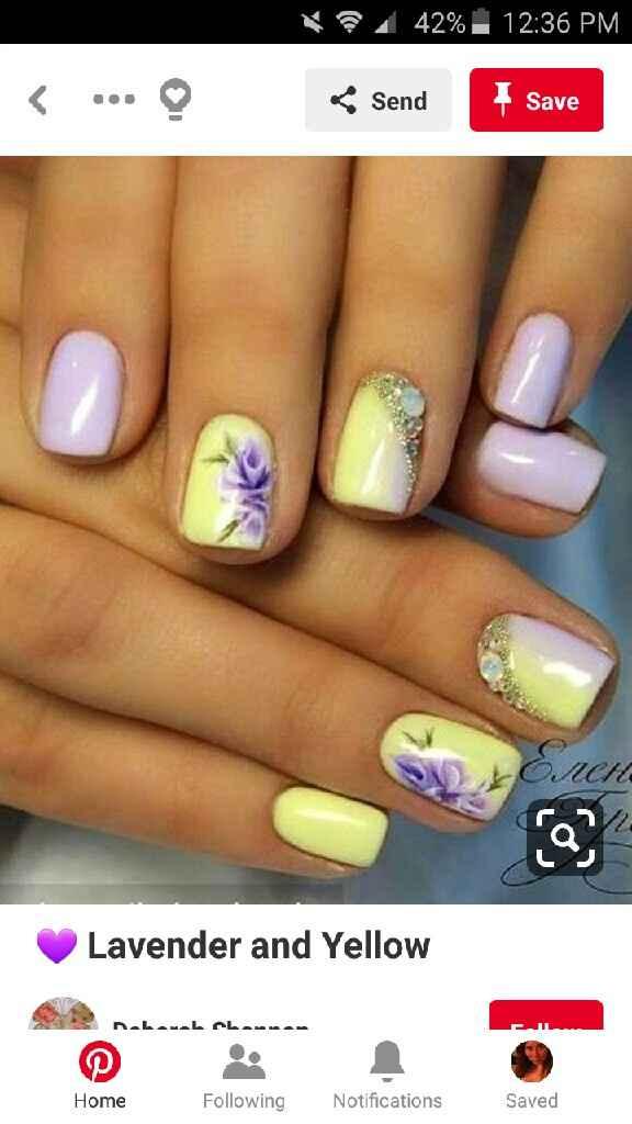 Nail design for wedding - 2