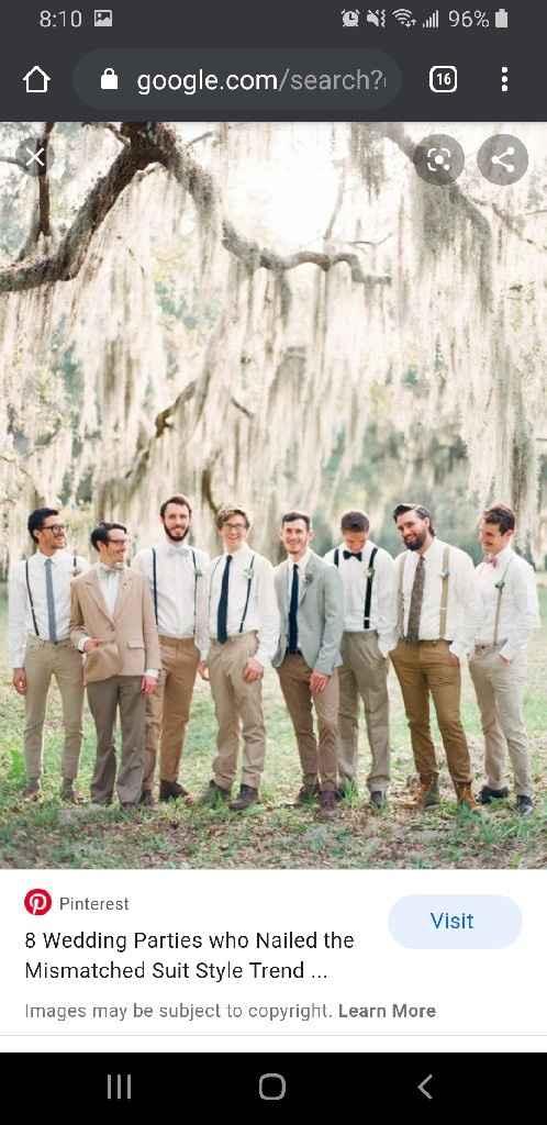 Is it okay to tell the groomsmen to byo khakis? - 1