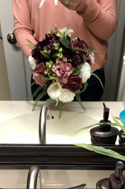 Fake floral centerpieces 6