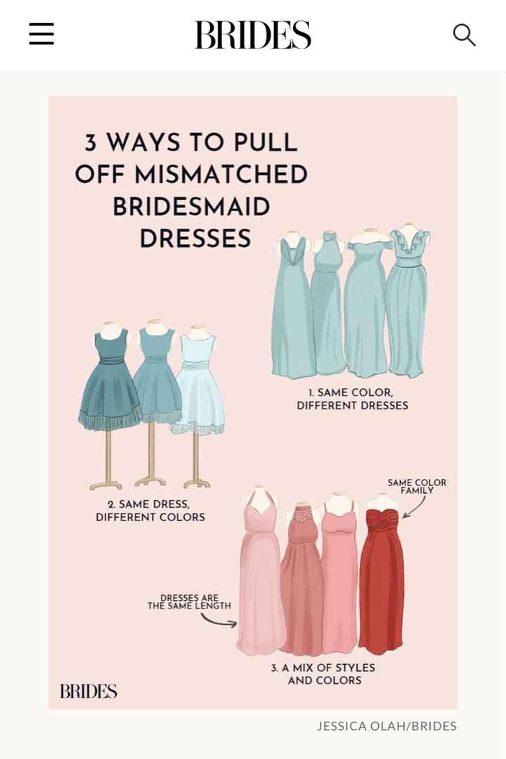 Mismatched Bridesmaids Dresses? - 1