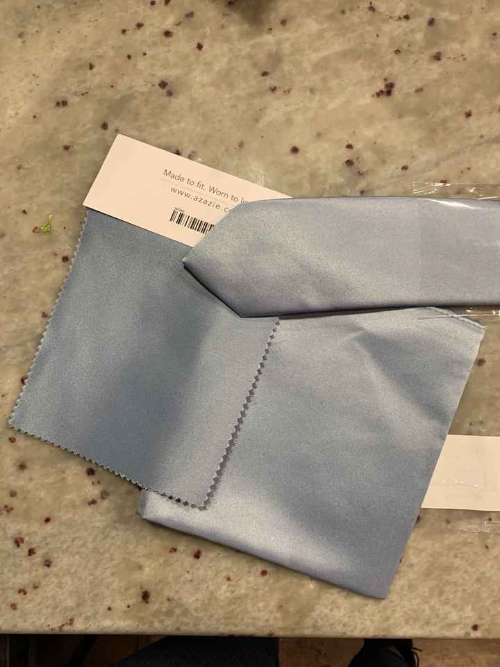 Azazie dusty blue ties for men - sample? - 1