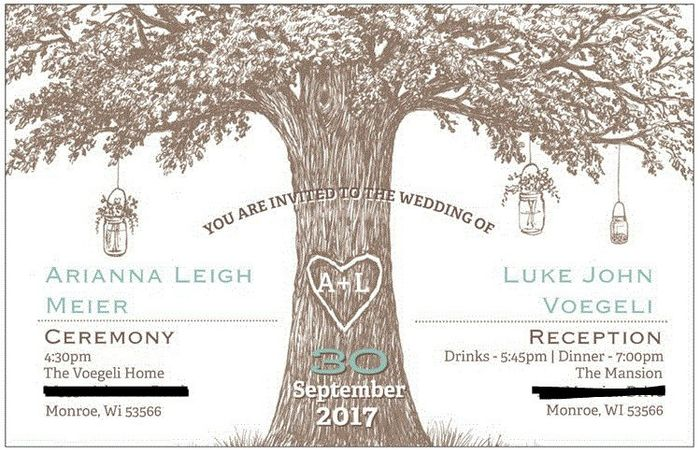 Ceremony Reception At Different Places Invitation Etiquette