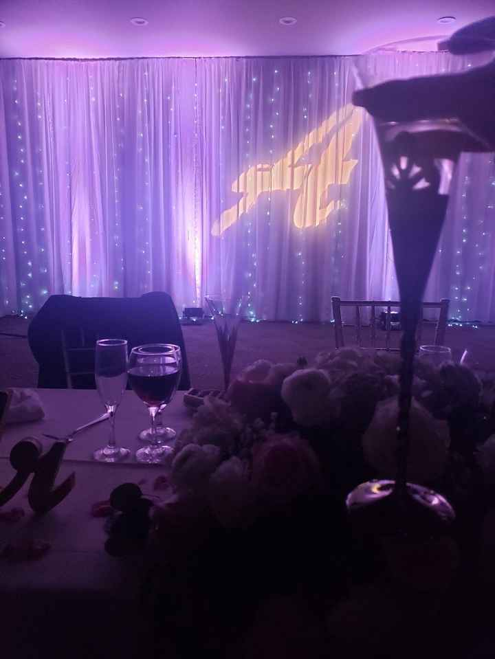 View behind the sweetheart table