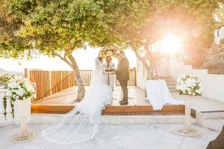The ceremony, under the trees!