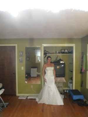 So excited! My wedding dress zipped all the way up today!!!