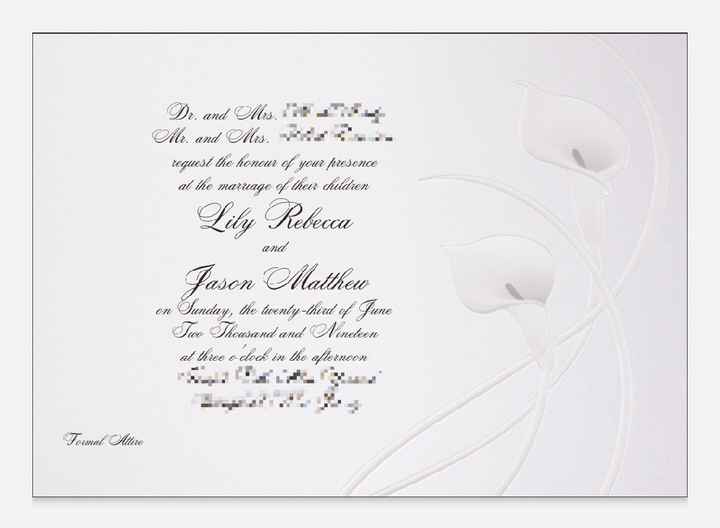Invitations - White or Colorful? - 1